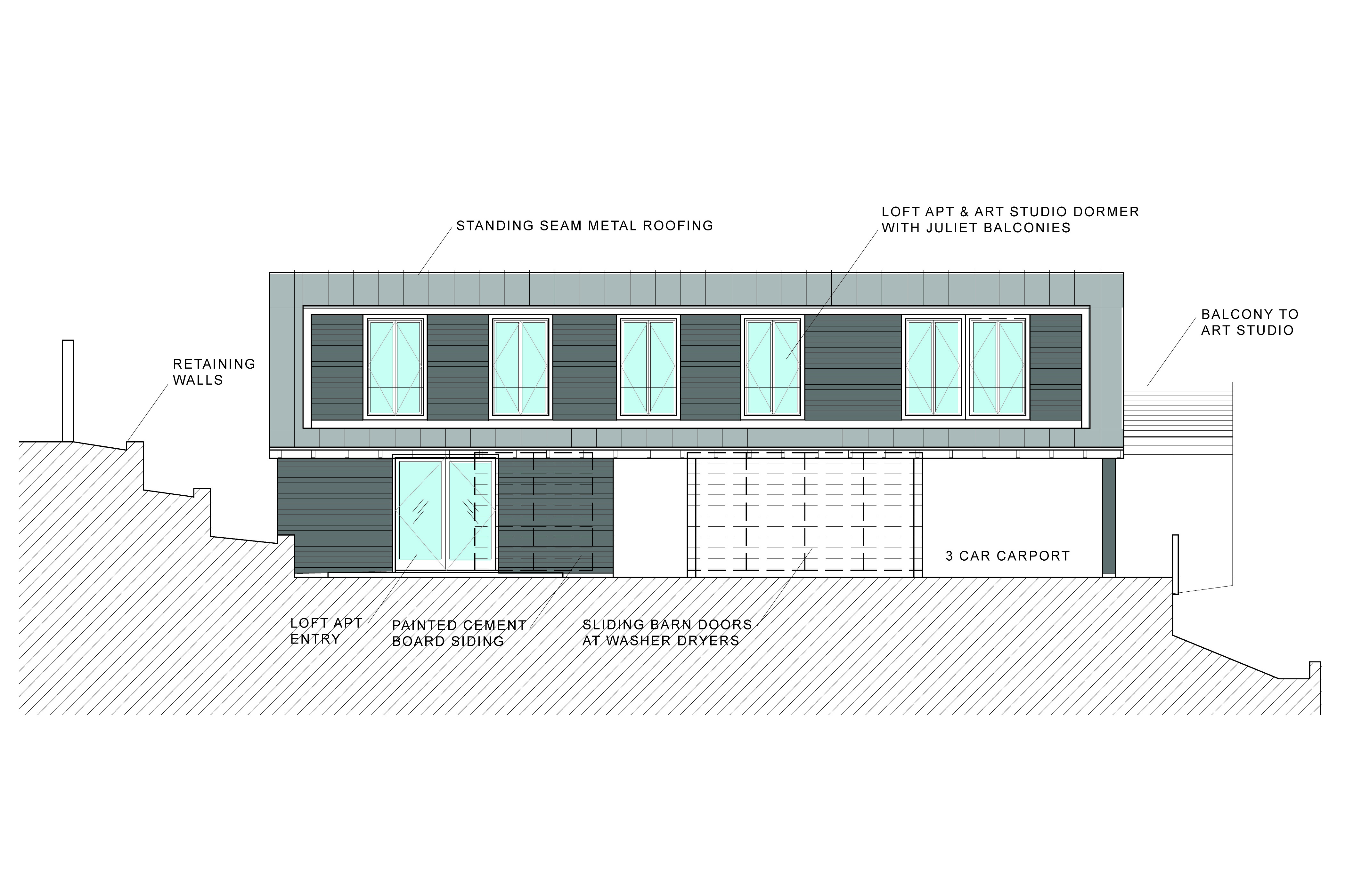 LOFT-STUDIO RENDERING v.2 SOUTH ELEV