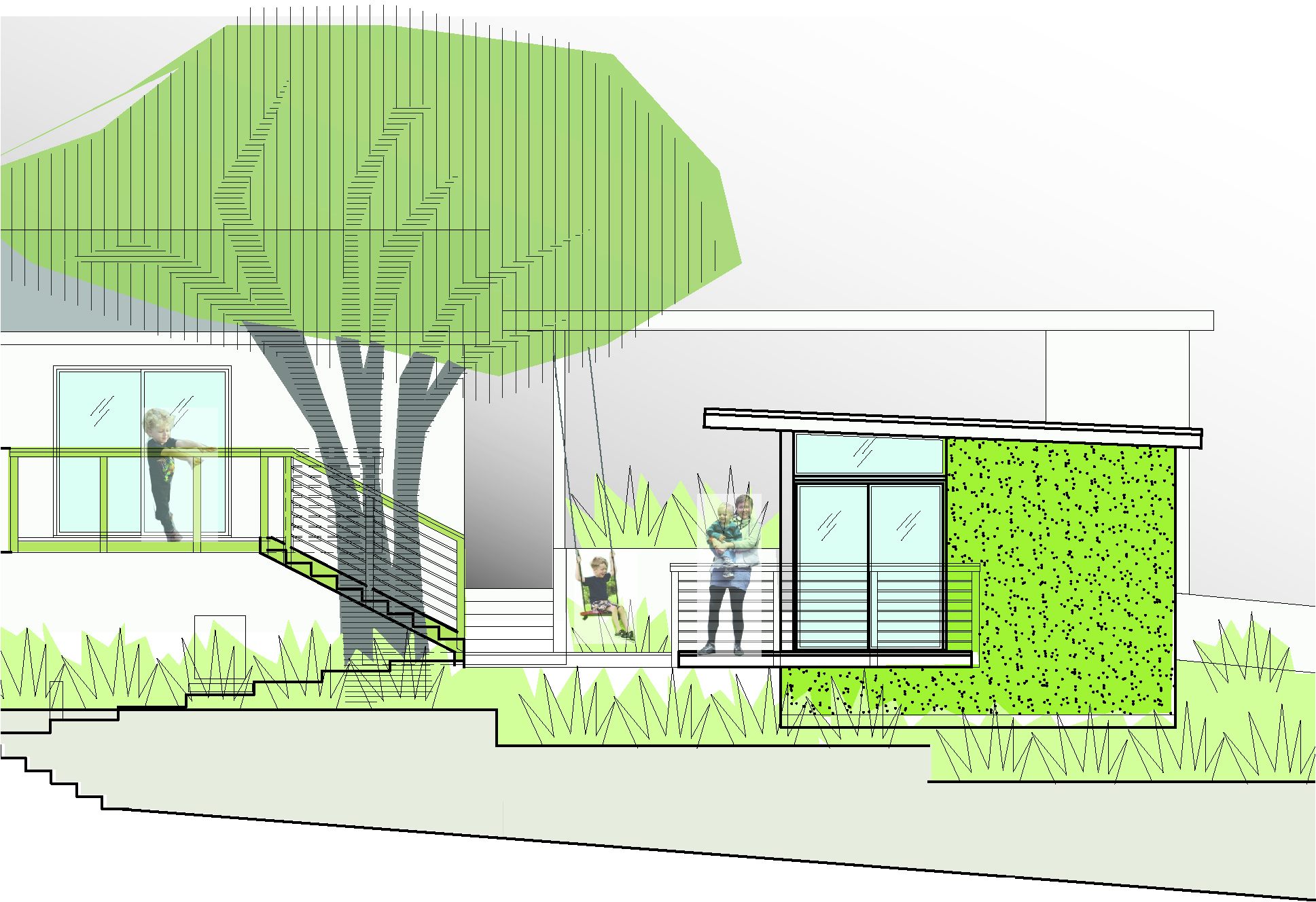 Office Elevation Rendering